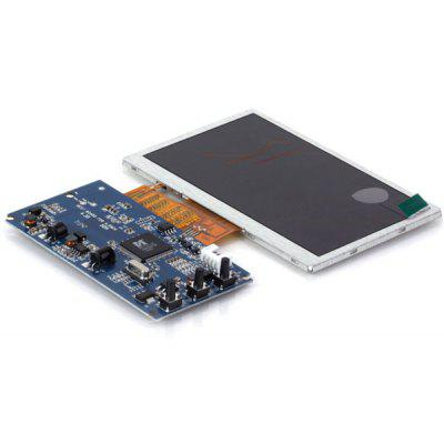 2 - CH Real Color 4.5 inch TFT LCD Display Monitor Module Blue PCB Board Silver Frame