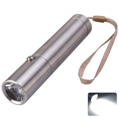 SingFire SF - 345 Torch Cree XP - E R3 3 - Mode 180lm Highlight LED White Stainless Steel Flashlight Silver (1 x 18650 or 3 x AAA Battery)