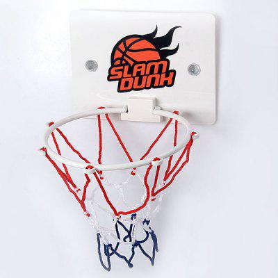 Novelty Slam Dunk Toilet Basketball Set with 3Pcs Mini Basketballs and Floor Mat