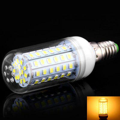 E14 8W 72 x 2835 SMD LED AC220 - 240V 600lm Warm White 3500K Corn Lamp