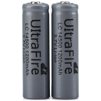 UltraFire 14500 1200mAh 3.7V Li - ion Rechargeable Battery without Protection Board  -  2PCS