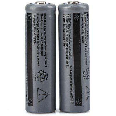 UltraFire 14500 1200mAh 3.7V Li - ion Rechargeable Battery without Protection Board  -  2PCSBatteries And Cases<br>UltraFire 14500 1200mAh 3.7V Li - ion Rechargeable Battery without Protection Board  -  2PCS<br><br>Battery: 14500<br>Brand: Ultrafire<br>Package Contents: 2 x 14500 Battery<br>Package size (L x W x H): 6 x 4 x 2 cm<br>Package weight: 0.060 kg<br>Product size (L x W x H): 1.3 x 1.3 x 5 cm / 0.5 x 0.5 x 1.97 inches<br>Product weight: 17 g / 1PCS<br>Protected: No<br>Rechargeable: Yes<br>Suitable for: CD Players, Flashlight<br>Type: Battery<br>Voltage(V): 3.7V