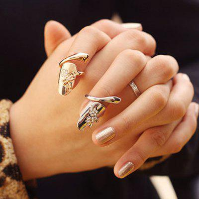 Rhinestone Embellished Dragonfly Pattern Fingertip Ring (ONE PIECE)