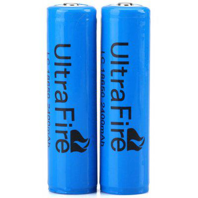 UltraFire 18650 2400mAh 3.7V Li-ion Rechargeable Battery with Protection Board 2PCS