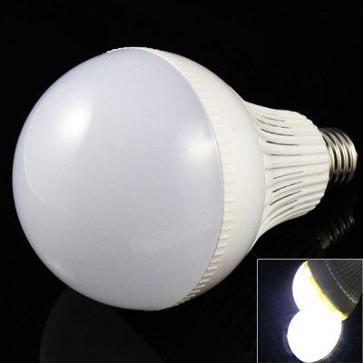 E27 9W 18 x 5730 SMD LED AC85 - 265V 770lm White 6500K Ball Bulb