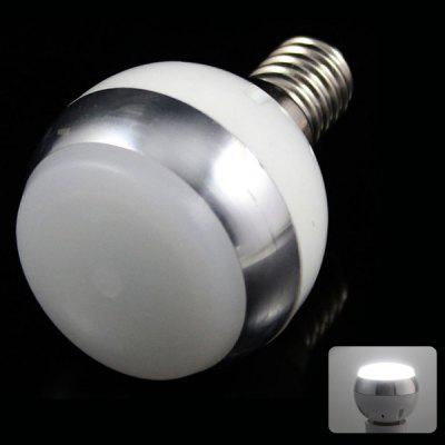 E14 3W 6 x 5730 SMD LED AC85 - 265V 220lm White 6500K Ball Bulb with Frosted Cover
