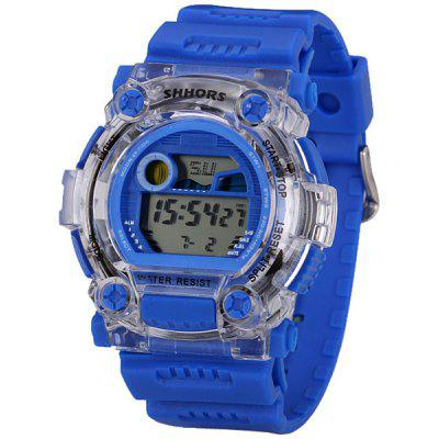 Fashion LED Sports Watch with Digital Display Day / Date Round Dial and Rubber Band