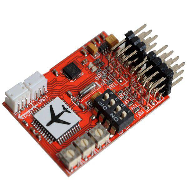 JCX - M6 4 - digit DIP Switcher Digital Flight Controller for RC Airplane / RC Model Plane / FPV Fixed - wing Airplane