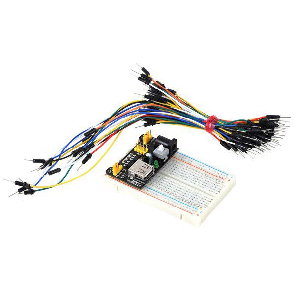 ZnDiy - BRY Z - 111 400 Hole Mini Breadboard + Power Supply Module + 65 Jump Cables Set for DIY / Arduino