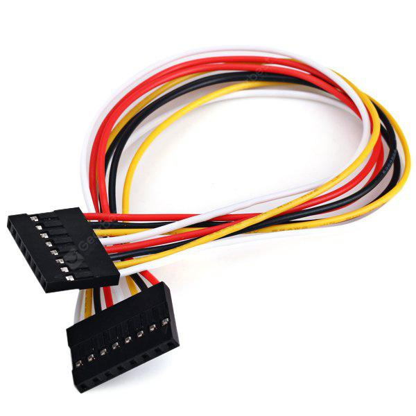 8 - Pin 2.54mm Pitch Male to Male Multicolored Extension Cable for Arduino  -  8.5 Inch / 21.5cm