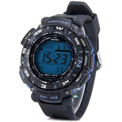 Shors Fashion LED Sports Watch with Digital Display Day / Date Round Dial and Rubber Band