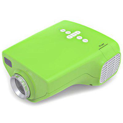 Movying E03 50lm LCD Home Mini Size Projector 200:1 Contrast 4:3 Aspect Ratio with AV / USB / VGA / HDMI / TV / SD Card Slot