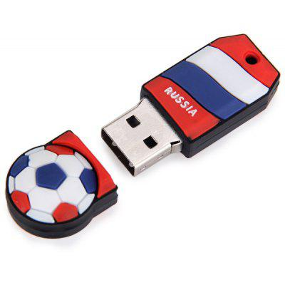 Football Style 32GB Capacity USB 2.0 Flash Drive U Disk for Computer  -  Russia