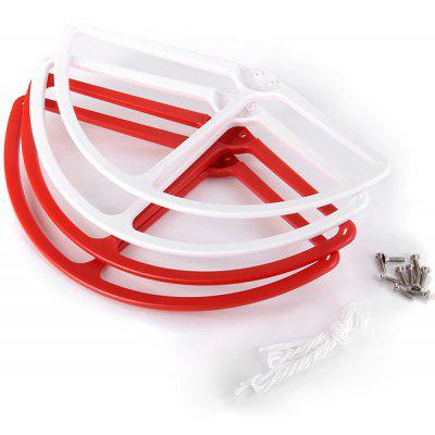 Buy RED WITH WHITE DJI Phantom 2 Vision 9 inch 9443 Propeller Guard Bumper Prop Protector, 4PCS for $4.17 in GearBest store