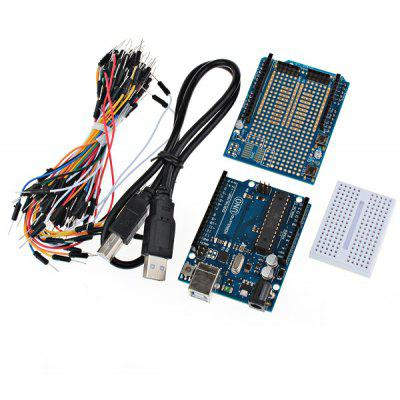 UNO R3 Development Board Kit for Arduino with Expansion Board / Mini Bread Board Jumper Cables