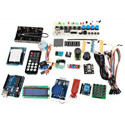 XDRduino UNO R3 Board RFID Stepper Motor Development Board Starter Kit with Basic Component Pack Set for Arduino Workshop Beginners