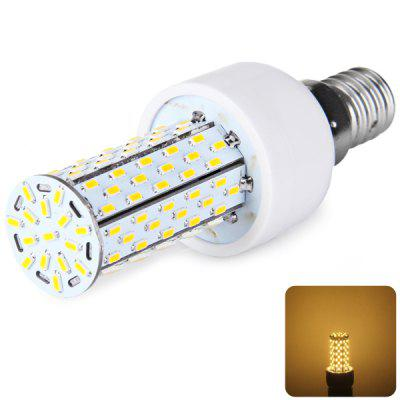 E14 120 x 3014 SMD LED 12W AC85 - 265V 1200lm Corn Lamp without Lamp Shade  -  Warm White Light