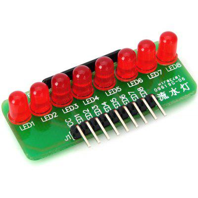 H1208002 - 033051 8 LED Red Light Strip Microcontroller Module for Arduino