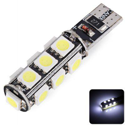 T10 5050 White Light 13 LEDs Car Lamp 12V DC LED Bulbs Car Instrument Light Reading Decoding Lamp