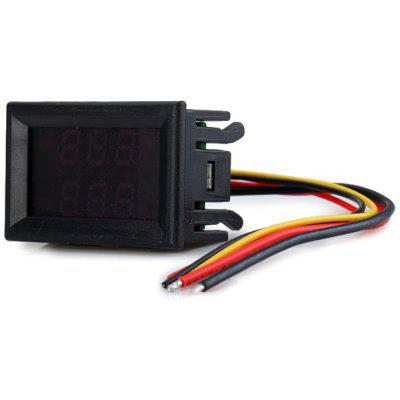 Variable Precision Three Digits 0 - 100V 10A DC Double LED Display Voltmeter Ammeter