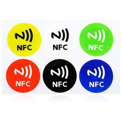 122806 6PCS Ntag 203 NFC Smart Tag Set Sticker Mifare Ultralight for NFC Cell Phones