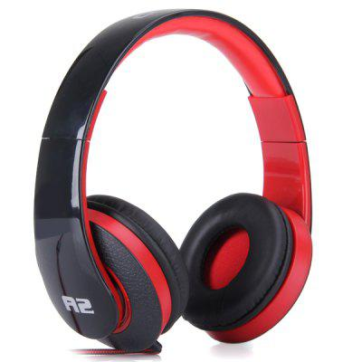 OVLENG A2 Comfortable Fit Dynamic Stereo Headphone DJ Stretchable Headset 1.2m Cable for iPhone / iPod / iPad / PC