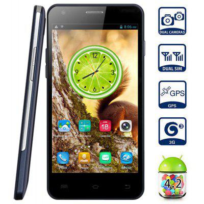 Buy SAPPHIRE BLUE Ecomm E100 5.0 inch 3G Phablet Android 4.2 MTK6572 1.3Ghz Dual Core 4GB ROM WiFi GPS QHD Screen for $74.50 in GearBest store