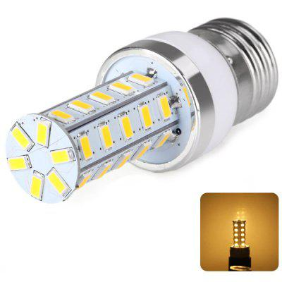 E27 36 x 5730 SMD LED AC220V Corn Lamp Silver Edge without Lamp Shade  -  Warm White Light