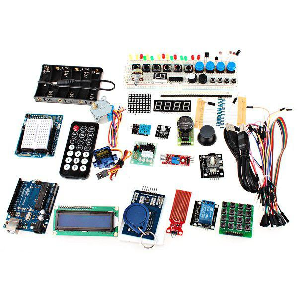 XDRduino UNO R3 Board RFID Stepper Motor Development Board Starter Kit com Basic Component Pack Set para Arduino Workshop Beginners
