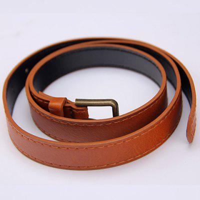 Casual Pure Color Faux Leather Belt For Men