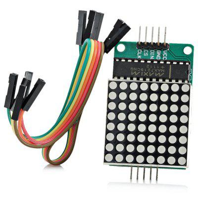 XD - 184854 MAX7219 Red Dot Matrix Module with 5 - Dupont Lines