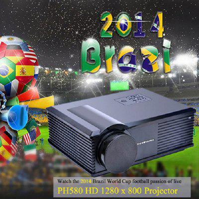 PH580 LCD 3200 Lumens 2000:1 Contrast LED Projector Support HDMI USB TV AV VGA (AU Plug)