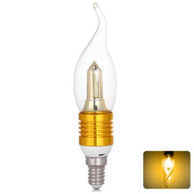 E14 SMD 3014 32 x LED 4W 400lm 85V - 265V Long Tail 360 Degrees Warm White Lighting Golden LED Candle Light Lamp