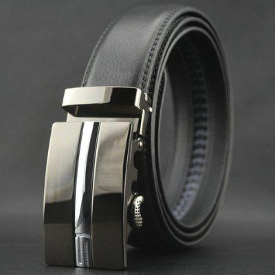 Hot Sale Number 5 Pattern Automatic Buckle Faux Leather Belt For Men
