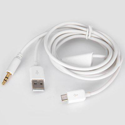 High Quality 3.5mm Car AUX Audio USB Charging and Data Transfer Cable for Android Phone