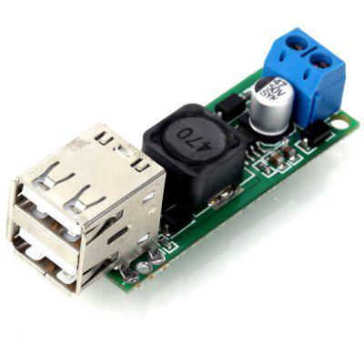 DIY DC 6  -  35V to 5V 3A Double USB Voltage Step Down Regulator Module for Automobile Motorcycle Battery Solar Panels