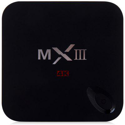 MXIII M82 Amlogic S802 Quad - Core KitKat Cortex - A9 Android 4.4 WiFi TV Box Media Hub 1GB RAM 8GB ROM Support HDMI OTG AV Input  -  EU Plug