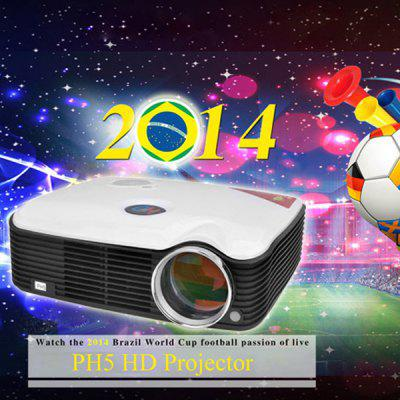 STA - ProHome PH5 2500 Lumens LED Projector 360 Degree Flip with HDMI USB Inputs EU Plug