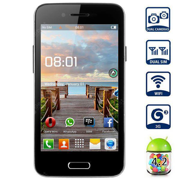 BML S55 Android 4 2 3G Smartphone with 4 0 inch WVGA Screen MTK6572 1 2GHz  Dual Core Dual 4GB ROM Cameras