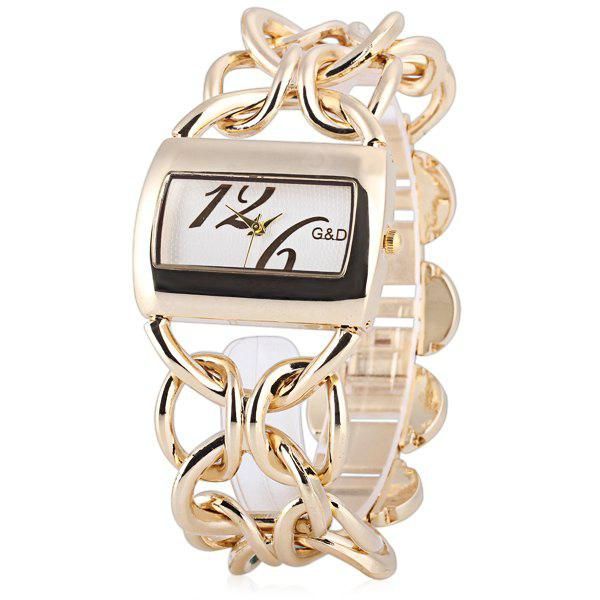 Delicate Women Watch Analog with Rectangle Dial Steel Watch Band