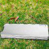 8 Plates Foldable Outdoor BBQ Picnic Camping Stove Wind Shield Screen Cookout - SILVER