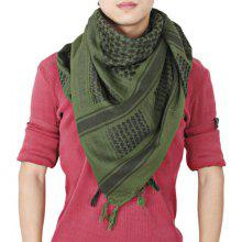 Charming Square Shaped Warm Fringed Soft Wrap Striped for Male Female