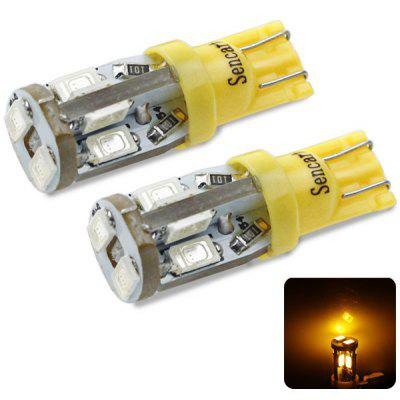 Sencart T10 5730 10 LEDs 4W 560 - 590nm Wavelength Yellow Light Car Turn Signal Lamp DC 12  -  16V (2 pcs)