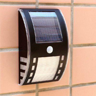 3 LEDs White Solar Induction Lamp Wall Light Guiding Light with PIR Sensor Suitable for Indoor Hotel Home Outdoors