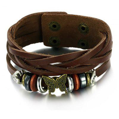 Fashion Butterfly Multielement Layered Link Bracelet For Men