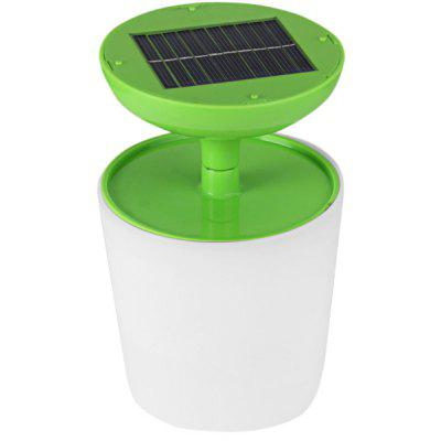 Unplug White Light Green Solar Power LED Key Desk Lamp for Camping Home Office