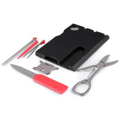 Multi - function Tool Card with Screwdriver Magnifier LED Light for Camping Hiking Traveling