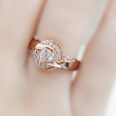 Simple Design Rhinestone Embellished  Women's Ring en Gearbest