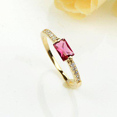 Elegant Artificial Ruby and  Rhinestone Embellished Ring For Women en Gearbest