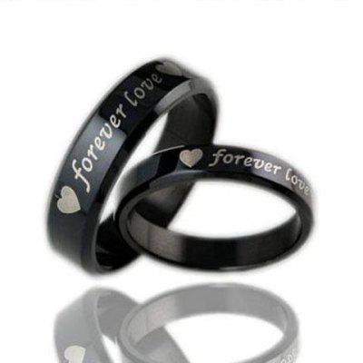 ONE PIECE Letter Heart Lover Couple Ring